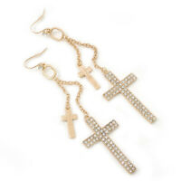 A675 Silver Tone Diamanté Pave Round Disc Necklace /& Earring Set Pierced Ears