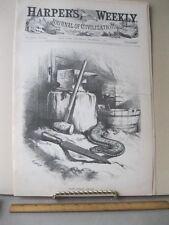 Vintage Print,NOW GNAW AWAY,Dec 1874,Th.Nast,Harpers,Political Cartoons