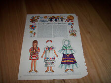 Betsy McCall writes from Meh-he-ko 1968 Vintage Betsy McCall Mag. Paper Doll