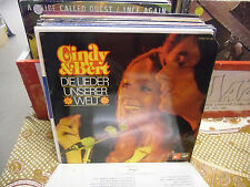 Cindy & Bert Die Lieder Unserer Welt vinyl LP 1974 Cornet Records VG+ Germany