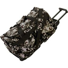Rolling Outdoor Travel Duffle Bag, Mens Luggage Carry-On Trolley Tote Suitcase
