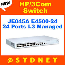NEW HP/3Com JE045A E4500-24 Switch 24 ports L3 Managed Stackable 1U RRP* $645.00