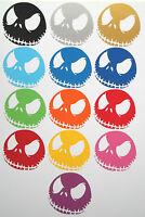 1 x Angry Jack Skellington Decal - Vinyl Sticker Ski Snowboard Skate JDM Skull