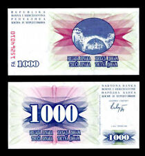 BOSNIA  1000 DINARA 1992 P 15 UNC