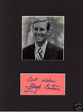 Lloyd Bentsen  Signed matted with photo