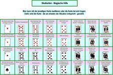Lerntafel Magische Hilfe/Wunscherfüllung mit Skatkarten