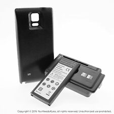 6800mAh Extended Battery for Samsung Galaxy Note 4 Black Cover Dock Charger