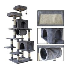 New listing 70'' Multi-Level Cat Tree Tall Play House Climber Activity Tower for Large Cats