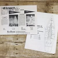 Vintage Sailboat Dealer Sales Brochure Dutch Maid 58 Van Breems 1958 Boat Price