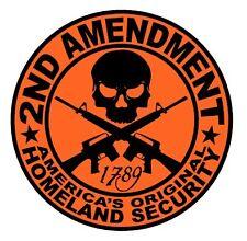 2ND AMENDMENT GUN Sticker Orange, Car window Laptop 4x4 truck windows, Hunting