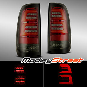 For 97-03 Ford F150 99-07 F250/F350/F450 Super Duty Red Smoke LED Tail Lights