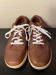 Callaway Sport Golf Shoes Brown/Orange Spikeless Mens 8.5 US