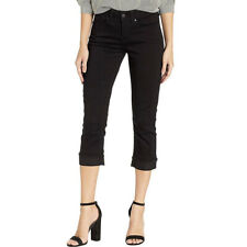 Signature By Levi Strauss & Co. Gold Label Black Women's Mid-Rise Capri