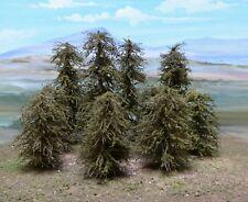 MODEL PINE TREES HO SCALE X 10. .