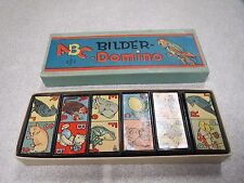 BOITE DE JEU VINTAGE DOMINOS ABC BILDER-DOMINO 1963 COMPLET + BOITE *