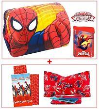 Trapunta + completo lenzuola 3 pezzi letto singolo SPIDERMAN marvel coordinato