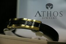 Rolex brand bracelet high-end designers design Genuine Black leather bracelet