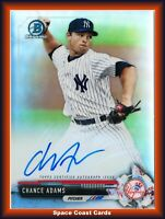 2017 Bowman Chrome Prospect Refractor /499 Chance Adams #CPA-CAD Auto