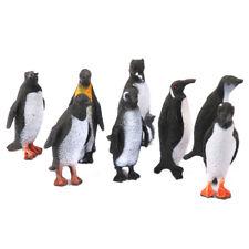 8pcs Vivid Plastic Penguin Ocean Animal Model Figures Kids Learning Toy Gift