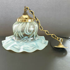 Large Walsh & Walsh Arts and Crafts Vaseline glass ceiling/pendant light shade