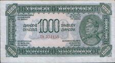 Yugoslavia 1000 Dinars 1944. P-55a. Russian print.  VF+.