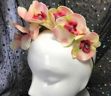 Headband Large Flowers Orchids Frida Kahlo Alice Band Fascinator Party Wedding