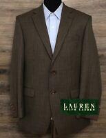 Ralph Lauren LRL Men's Brown Houndstooth Wool 2-BTN Blazer Sport Coat Jacket 41R