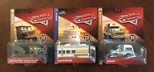 LOT OF 3 Disney Pixar Cars 3 - VAN SCANLANE - SARGE WITH CANNON - ROSCOE DELUXE