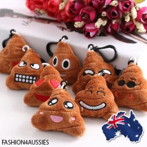 Poop Emoji Keychain Key Ring Chain Fun Cute Gift Funny