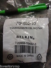 Belkin F3H982-10 VGA/SVGA Monitor Replacement Cable - 10 feet. New! 4 Pieces!