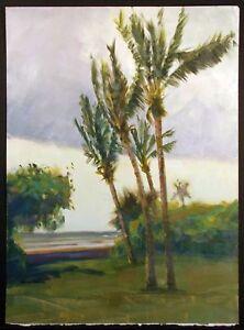 "Steve Walters ""Palms"" Hand Signed Original Painting on Paper Artwork Make Offer!"