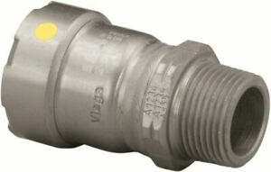 MegaPress®G 25121 Patented Viega Smart Connect® Pipe Adapter 1-1/2 in X 1-1/2 in