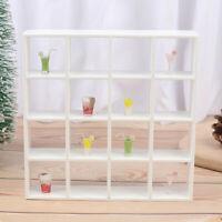 1Pc 1: 12 Dollhouse Miniature Wood Storage Rack 16 Grid Shelves Doll House De Cw