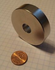 HUGE Neodymium ring magnet. Super strong N52 rare earth magnet.