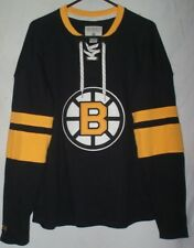CCM Boston Bruins Black Jersey Sweatshirt Size S NHL Hockey