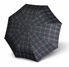 Knirps T.200 Medium Duomatic Regenschirm Taschenschirm Schirm Check Blue Blau