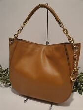 MICHAEL KORS STANTHORPE LARGE SHOULDER HOBO BAG BROWN ACORN LUGGAGE LEATHER $398