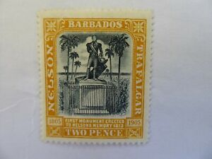 Barbados 1907 2d m/mint
