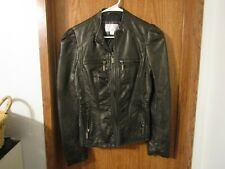 Xhilaration Women's Black Faux Vegan Leather Jacket LARGE