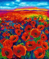 Timeless Treasures Fabric - I Dream of Poppy Panel - Digital Print - 100% Cotton