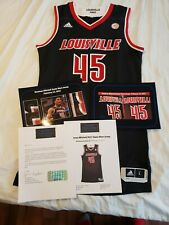 Donovan Mitchell 2016-17 Louisville Cardinals Game Worn Used Jersey PHOTOMATCHED