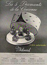 PUBLICITE MOLINARD PARFUM LES 5 DIAMANTS DE LA COURONNE DE 1952 FRENCH AD PUB