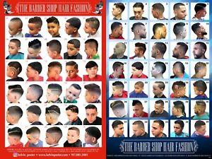 New Barber Poster Combo w/30 Modern Cuts Latino Men & Boys Lot