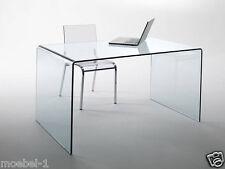 Schreibtisch Glas Tisch Bürotisch CHANDRA Echtglas Bürotisch PC-Tisch 120 cm