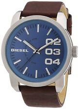 Diesel Men's DZ1512 'Double Down 46' Brown Leather Watch