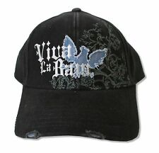 VIVA LA BAM - BAM MARGERA DISTRESSED LOGO BLACK BASEBALL HAT CAP NEW ADJUSTABLE