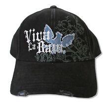 VIVA LA BAM - BAM MARGERA DISTRESSED LOGO BLACK BASEBALL HAT CAP NEW ADJUSTABLE