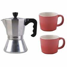 La Cafetiere Coffee Maker Set With 2 Ceramic Espresso Cups BRAND NEW RRP £39.99