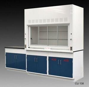 6' Fisher American Fume Hood w/ ACID Storage & 4' Laboratory Cabinets / E1-740