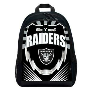 Oakland Raiders Lightning Style Backpack [NEW] NFL Sling Bag Back Pack Sack